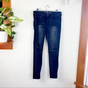 American Eagle Super Stretched Distressed Jeans 10